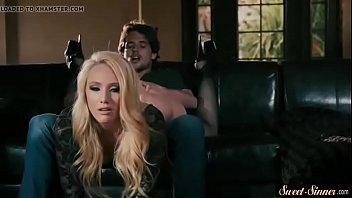MILF feeling horny and seducing her stepson fucking hard