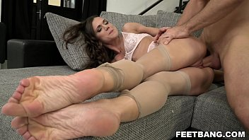 Foot fetish on her first boy - shooting