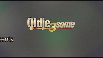 Grandpa fucks teens hard in 3some