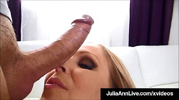 Cock Sucking Mommy Julia Ann gets a warm glob of jizz on her big ass tits after blowing, stroking & satisfying a throbbing hard dick! Full Video & Julia Ann Live @ JuliaAnnLive.com!