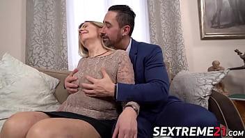 Adorable mature woman nailed hard by man