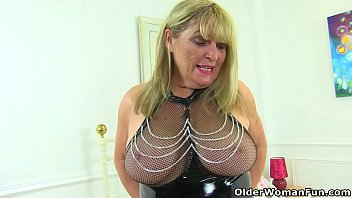 English gilf Alisha Rydes is such a naughty tease in latex lingerie and leather boots. Bonus video: UK granny Elle.