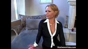 MILTF #25 - Kelly Leigh - Attractive MILF sits at home reading a magazine when her husband's young employee visits her