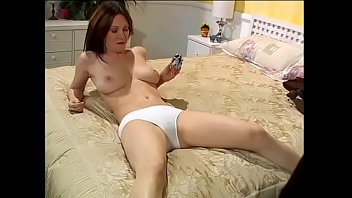 Brunette MILF with big natural jugs can handle a big cock with lust while she is eating an ice-cream