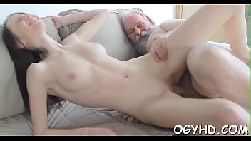 Old chap fucks young juicy pussy