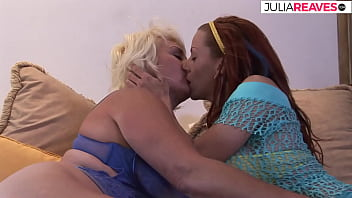 Pussy slime flows by Granny Doris and Milf Helena with Huge Sextoy