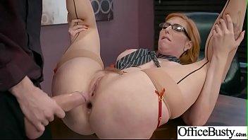 (Lauren Phillips) Busty Office Slut Girl In Hardcore Sex Scene clip-16