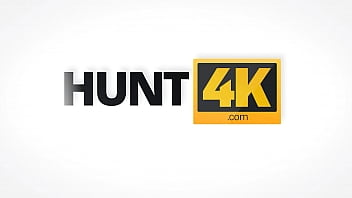 HUNT4K. Slutty hottie accepts cash from hunter for chance to make BF cuckold