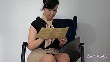 Big Tit MILF flight attendant Wanilianna - Upskirt, Panties, and Stockings