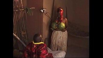 Redhead ebony big beautiful woman gets pounded doggy style after hawaiian dance