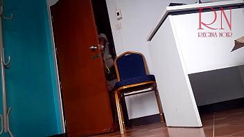 Naked secretary at office. Undressing enployee.  I am your seXretary. Do you wanna be my boss?