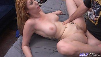Thick redhead hottie Lauren Phillips gets fat cock