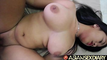 Asian Loves Hard White Cock thumbnail