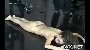Legal age teenager roughly drilled on cam