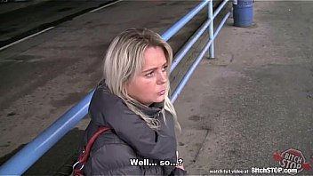 Bitch STOP - Blonde Czech MILF fucked in car