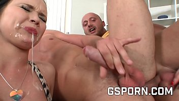 Blonde y brunette fucking in a bisexul orgy