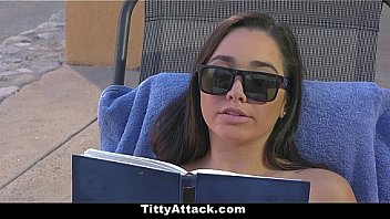 Titty Attack - Big Boobs Pornstar (Karlee Grey) Get Cum On Tits