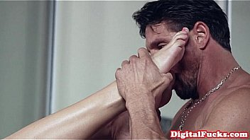Glamorous submissive gets disciplined by dom