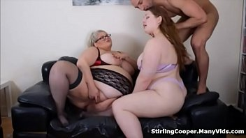 Two BBW's Take Turns Sucking and Fucking His Cock