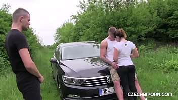 Czech bisexual threesome