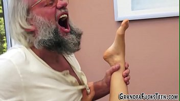 Old gray man fucks young girl