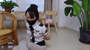 tickled asian bound and gagged in costume