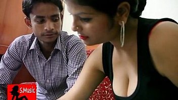 Indian couple sitting and talking