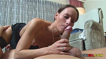 German MILF gets fucked in a threesome