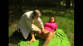 Heavenly Laura with round natural tits bounces on fat fang