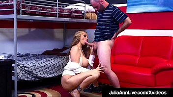 Sexy Milf Tutor Julia Ann sucks her pupil off & takes his horny cock deep in her wet pussy to make sure he gets a straight A!