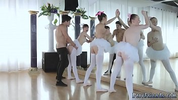 Group of ballerinas fucked by a guy