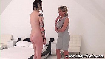 Big tit British mature uses a vibrator on her young neice Thumbnail