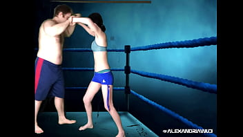 Chinese female MMA fighter takes on a burly British pugilist