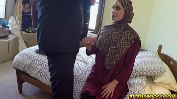 Beautiful Arab slut fucks for some money