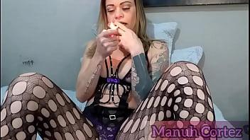 Smoking Fetiche e masturbação
