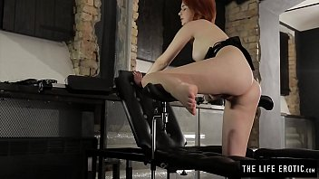 Tiny Redhead With Legs In Stirrups Masturbating To A Hard Orgasm thumbnail
