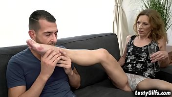 Lusty granny v. is ready for a young cock John Price is the lucky guy who fucks her vintage hairy pussy