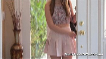 Perky teen filled with big black cock