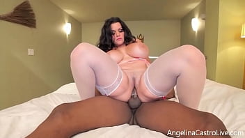 A lucky huge pulsating penis stuffs Mega Moist Muff Angelina Castro, making Cuba's #1 Export cream her twat in this dick draining fuck clip! Full Video & Angelina Live @ AngelinaCastroLive.com!