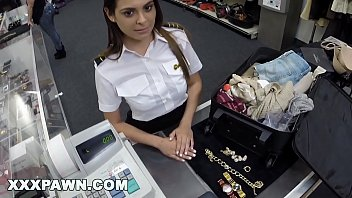 XXXPAWN - Beautiful Flight Attendant Pawns Her Pussy For Quick Cash