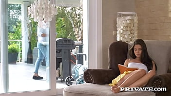 Adorable small boobs hottie Little Caprice puts down her book for a mouthful of cock and hot intense pounding that ends in a cumshot over her beautiful pussy! Full Flick & 1000's More at Private.com!