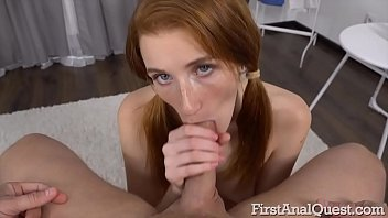 Watch Red-haired cutie Foxy Lee is_ready to try_the first anal sex. preview