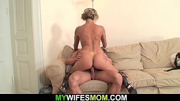 Hot granny fucking her son-in-law