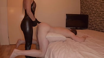 Femdom Guy Pegged By Girl In Leather