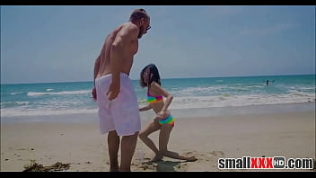 Young And Petite Tiny Girl Jasmine Grey Gets Small Pussy Stretched By Huge Cock Guy From Beach