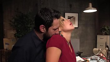 Warehouse worker Tommy Pistol binds his boss niece Savana Styles in an office and rough bangs this big tits blonde hottie with curvy ass