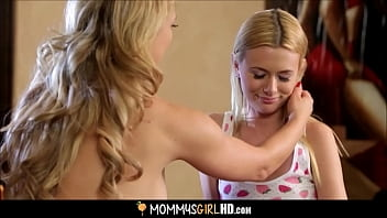 Blonde milf seduces blonde girl
