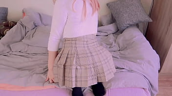 Young step sis in Mini Skirt Ass fucked