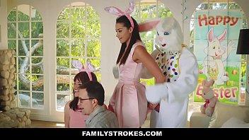 Family Stokes - Petite Brunette (Avi Love) Banged Hard During Easter