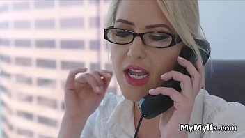MILF dean riding studs hard cock at her office